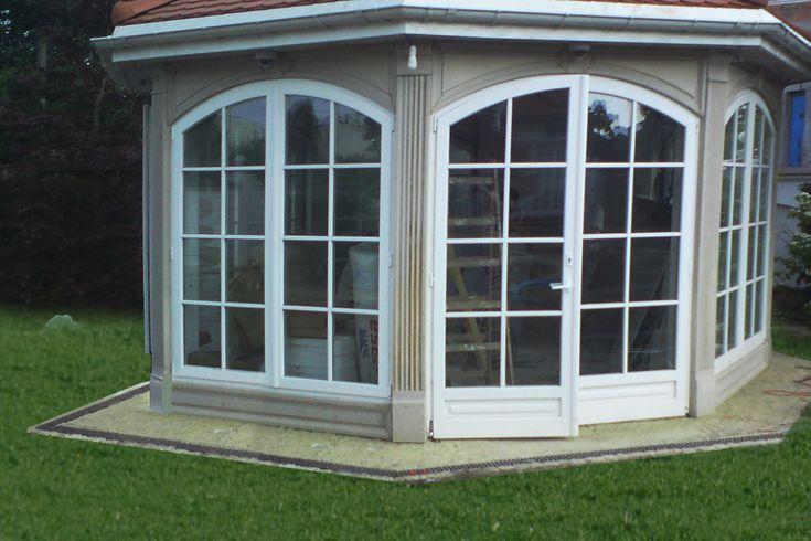 Altana W Stylu Angielskim Do Ogrody Murowana Okna
