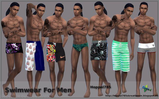 Sims 4 CC's - The Best: Swimwear For Men by Hoppel785