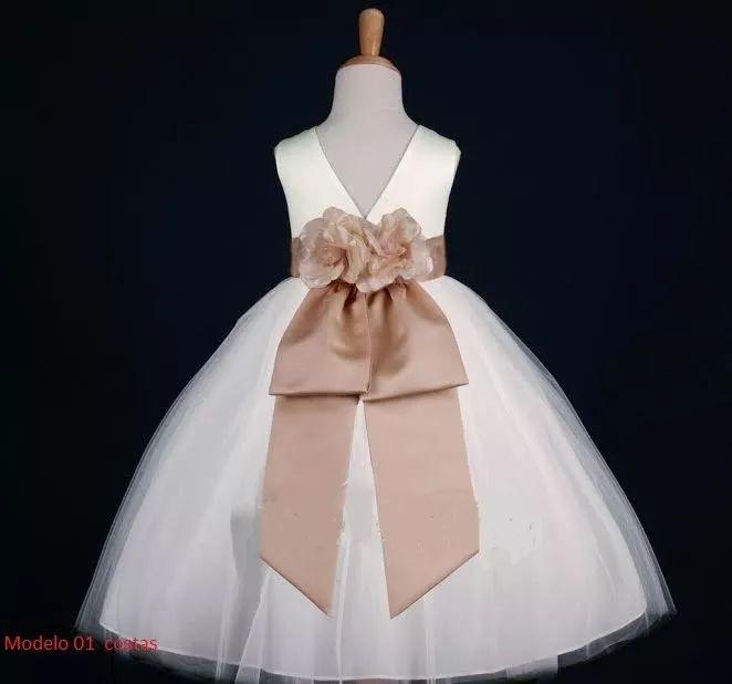 Vestidos De Dama De Honra Infantil (confecção) - R$ 146,00 em Mercado Livre