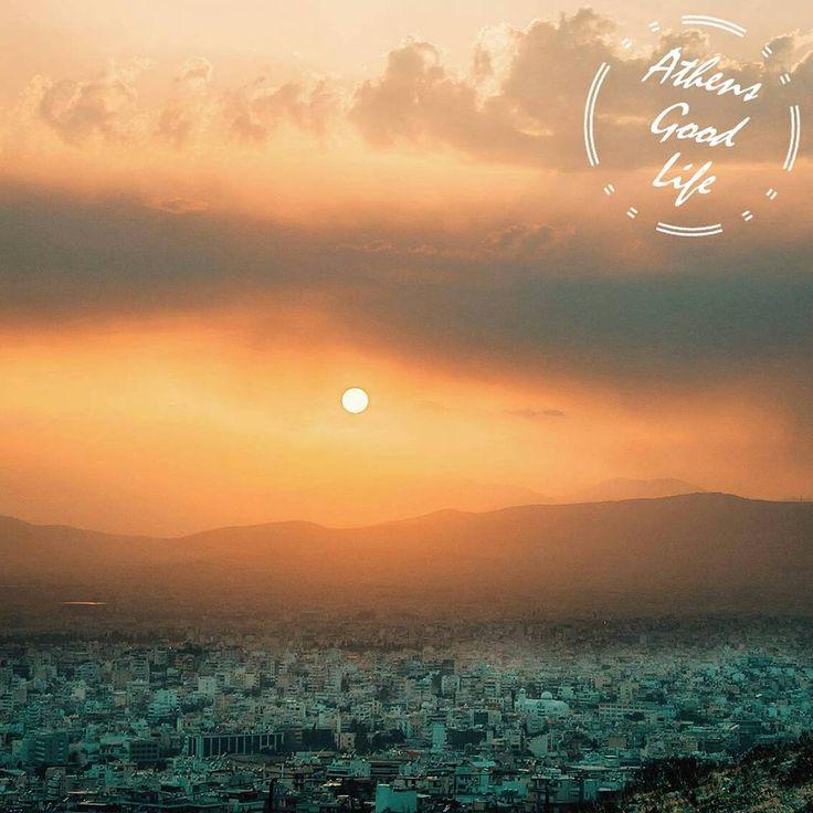 The beautiful white city of #Athens bathing in the winter sun.  #AthensGoodLife #CityBreakAgenda #visitAthens Photo @john_koliogiannis