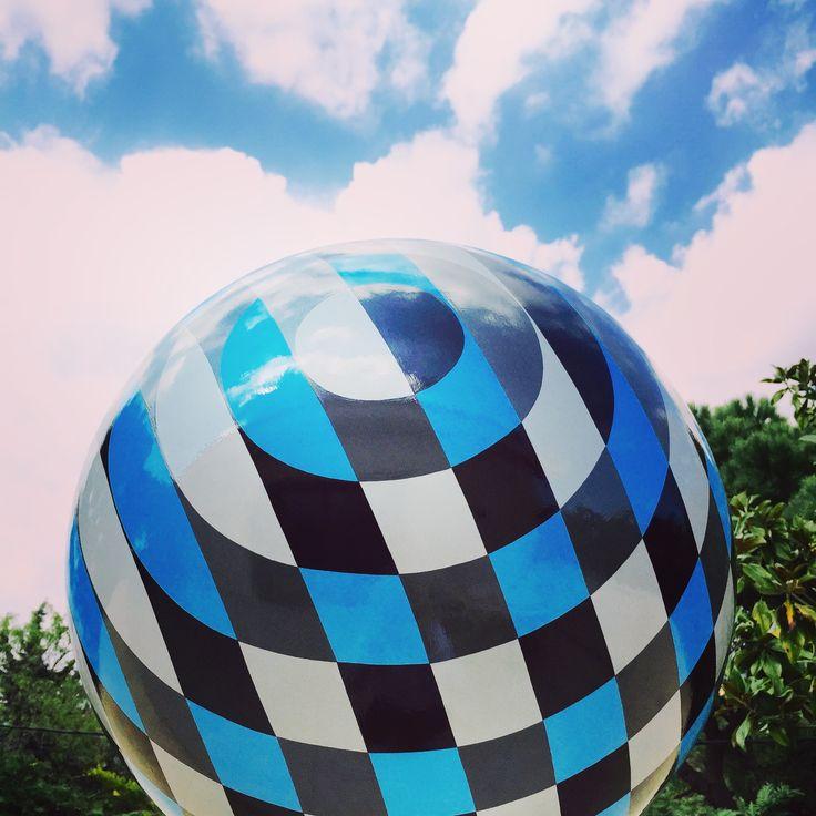 Sphere sculpture artwork by Vassiliki