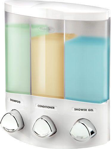 Croydex Euro Trio Wall Mounted Triple Soap Shampoo Gel
