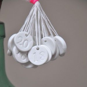 Advent Calendar: Make Clay Advent Numbers