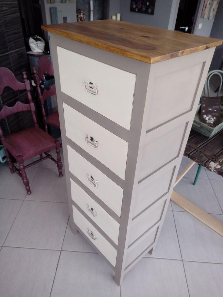 #drawer #autentico #chalk paint #drawer chest #handmade