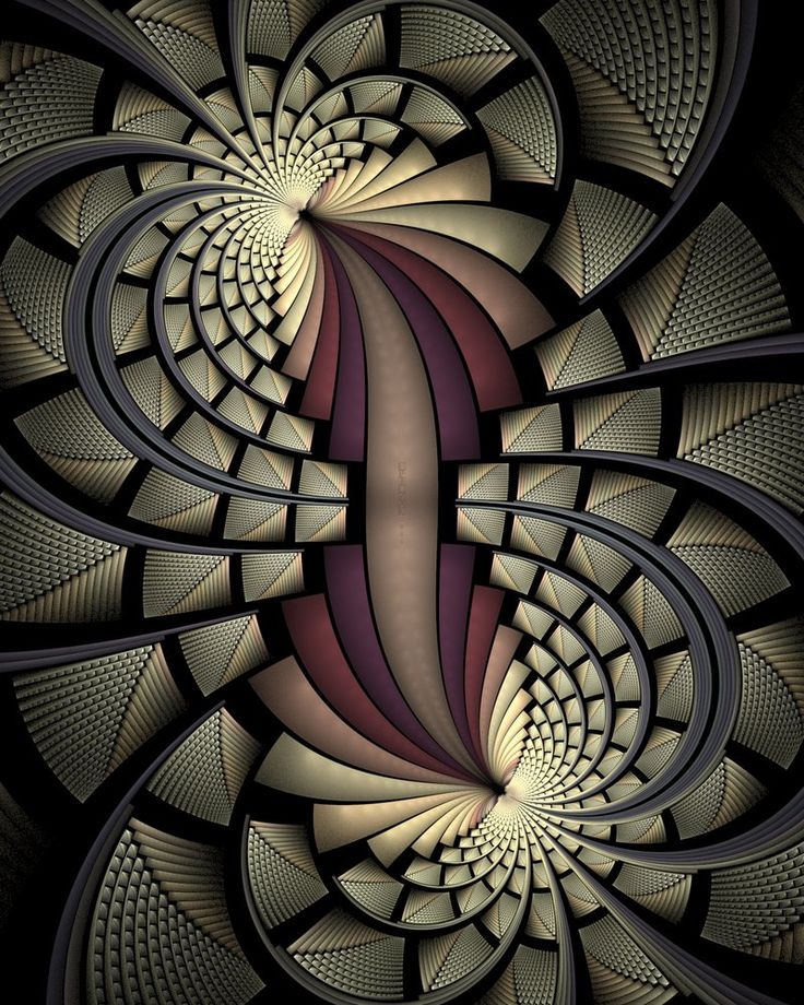 Dark Swirl Fractal Cross Stitch Printable Needlework Pattern - DIY Crossstitch…