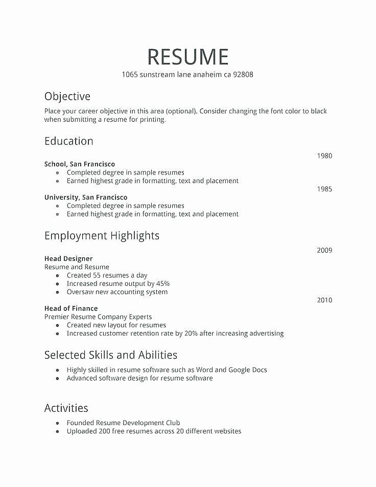 First Job Resume Template Inspirational First Job Resume Template First Job Resume Job Resume Format Job Resume Template