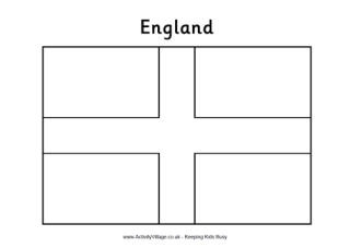 England flag colouring page and printables