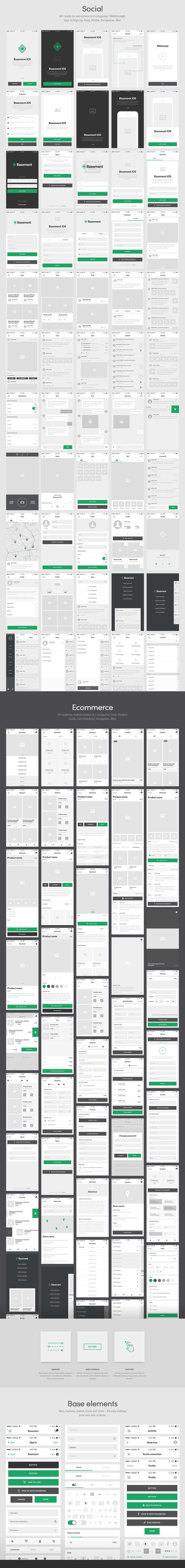 UI Kit from Basement iOS