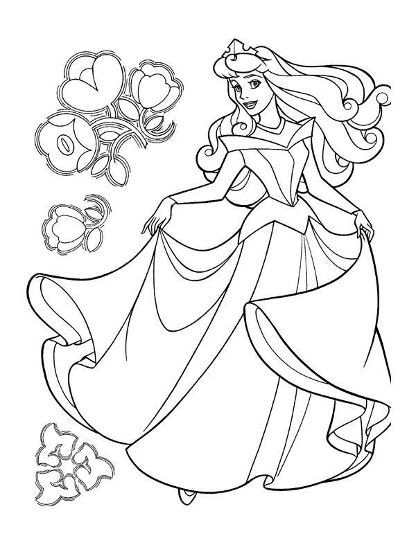 Coloriage Disney Princesse Aurore Halaman Mewarnai Buku