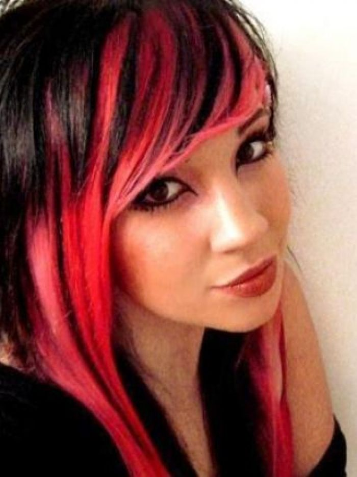 101 best highlights images on pinterest hair google search and scene hairstyle in red and black scene girl hairstyles pictures if you really want something unique create striking contrast by dyeing front layers in pmusecretfo Images