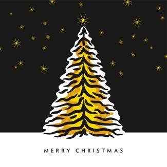 Christmas card designed for the Richmond Football Club