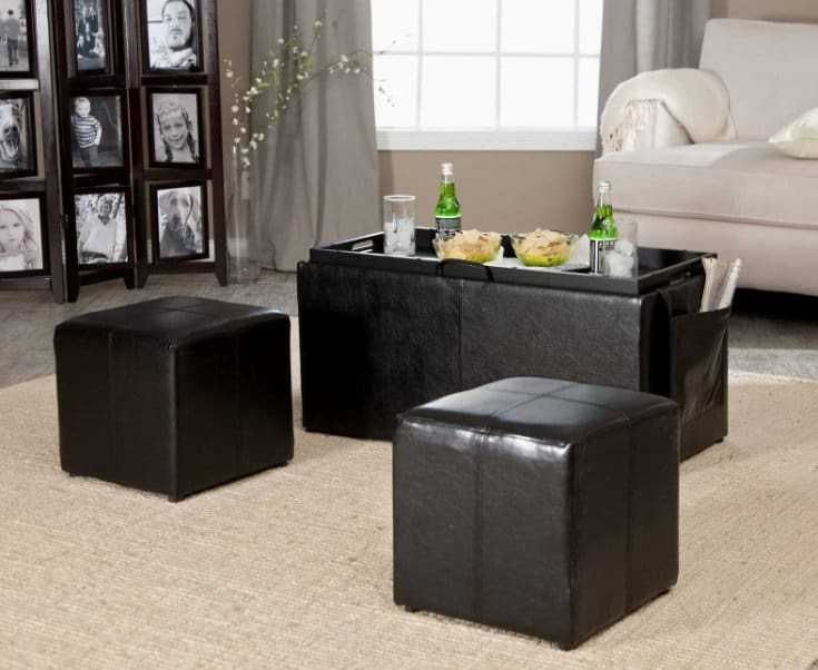 35 most classy leather ottoman coffee tables ottoman