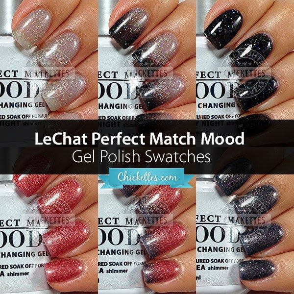LeChat Perfect Match Mood Gel Polish Swatches at Chickettes.com