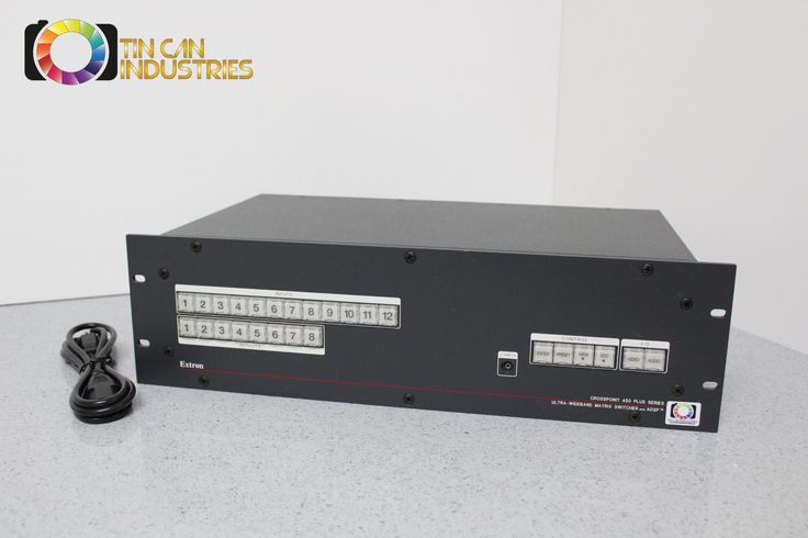 And here it is, the thing you were looking for. http://tincanindustries.com/products/extron-crosspoint-450-plus-series-ultra-wideband-matrix-switcher-adsp-ip-link?utm_campaign=social_autopilot&utm_source=pin&utm_medium=pin If it is already sold, keep searching, there is plenty more to find.