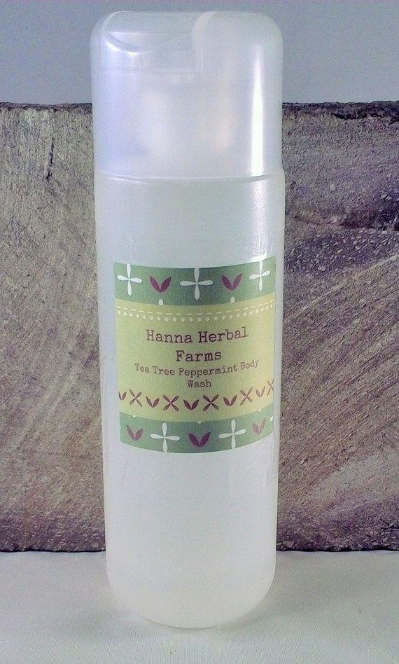 Tea Tree Peppermint Body Wash  clear skin  by HannaHerbalFarms