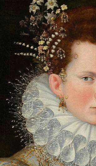 victorian hair jewelry/adornment
