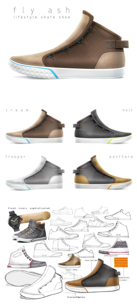 vdubindahaus: A lifestyle skate shoe concept developed for the MESH01 Freestyle Skate Competition judged by Michael DiTullo. Designed by Matthew Choto, a Junior at the school I go to. mattchoto.com