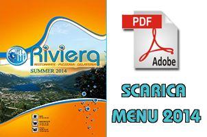 Studio grafico Menu estate 2014  Ristorante Riviera Caldonazzo TN