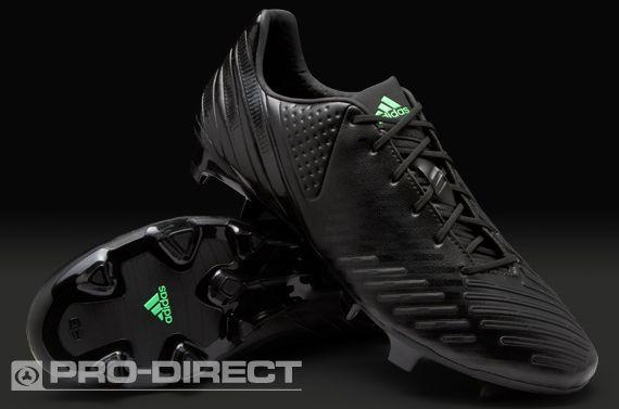 adidas Football Boots - adidas Predator LZ TRX FG - Firm Ground - Soccer Cleats - Black-Black-Green Zest