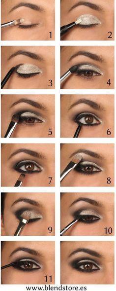 Como maquillarse los ojos marrones  si eres gordita