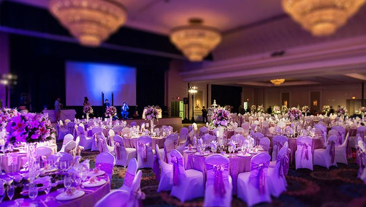 Purple decorations centerpieces