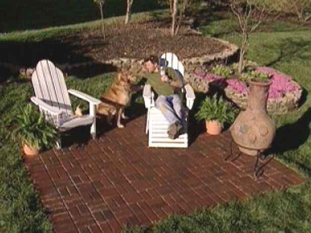 How to make a brick Patio. Perfect for all the bricks laying around behind my garage.