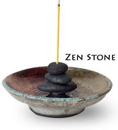 Zen Stone Ceramic Incense Burner