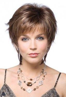 Short Hair Styles For Women Over 50 | Asymmetrical cut for short wavy hair.