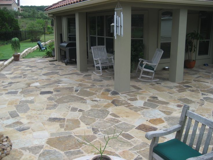 Oklahoma Flagstone Patio Constructed By Ol Yeller