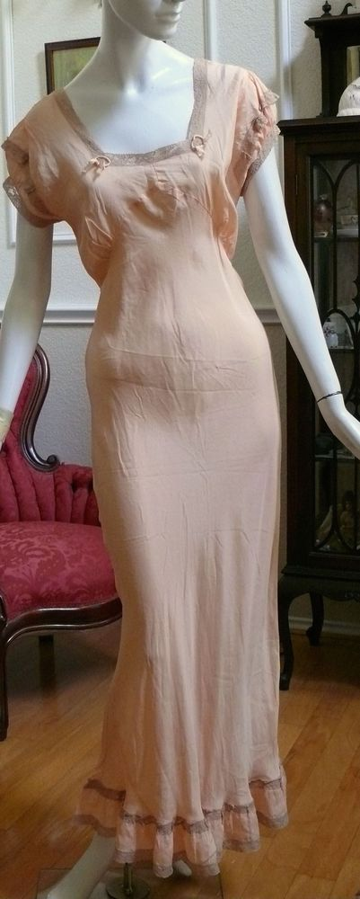 1930's silk bias-cut nightgown