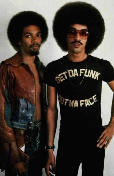 "THE BROTHERS ""Get Da Funk Out Ma Face"" JOHNSON! Now, these two dudes threw down some old school funk that was 2nd to none! George also delivered guitar work for Steve Arrington's album Dancing in the Key of Life (1985)"