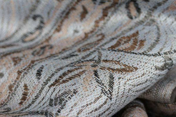 Grand châle pashmina femme - grand foulard écharpe laine style cachemire pashmina couleur beige et bleu pastel et camel pour homme et femme - pashmina cashmere scarf bleue and beige for men and woman www.pashminacachemire.com