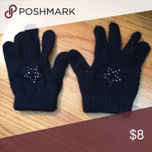 Gap navy gloves with rhinestone star Gap navy gloves with rhinestone star GAP Accessories Mittens