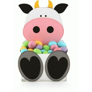 Silhouette Design Store - View Design #75779: cow belly box