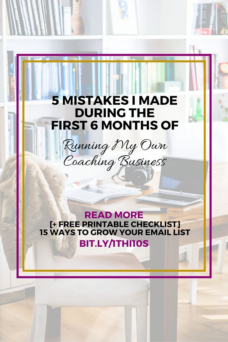 5 mistakes i made when i was a new entrepreneur running my coaching business small business tips
