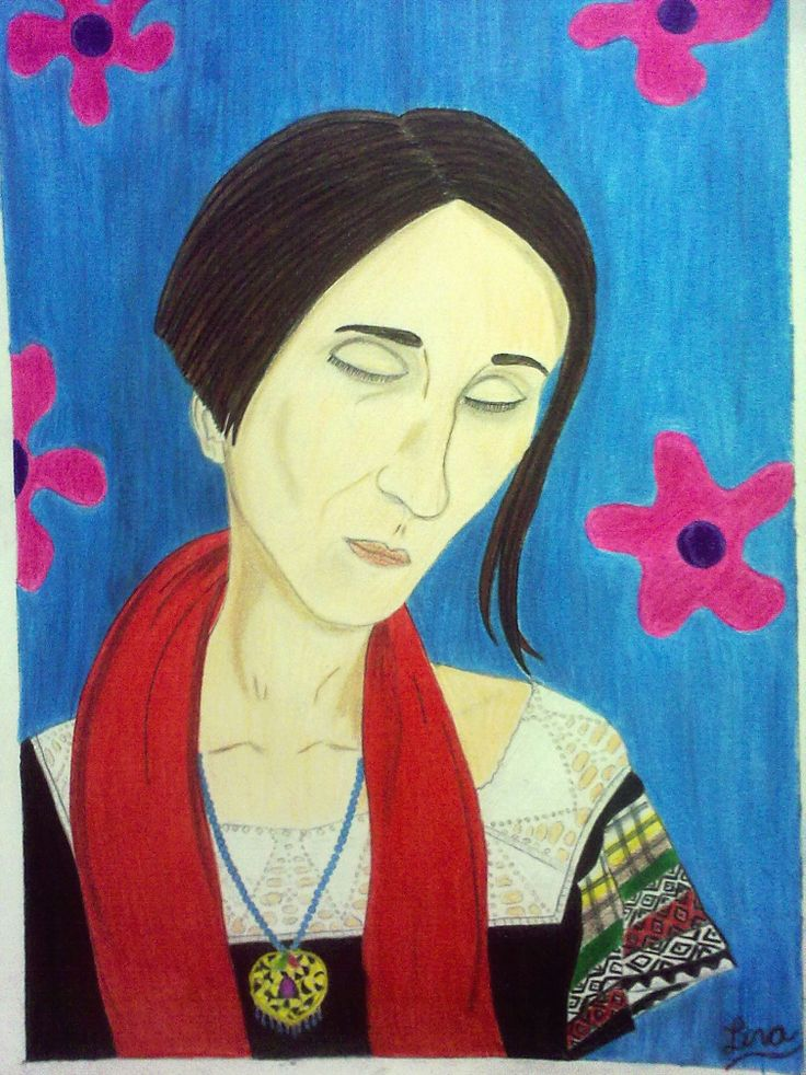 Título: Ilustración: Ruiseñora (Andrea Echeverri). Técnica: Lápices de colores. Autor: Lina Chicaguy (La Lunática) Bogotá, Colombia.  2013