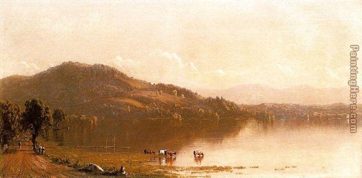 Sanford Robinson Gifford Mt. Merino on the Hudson near Olana Painting anysize 50% off