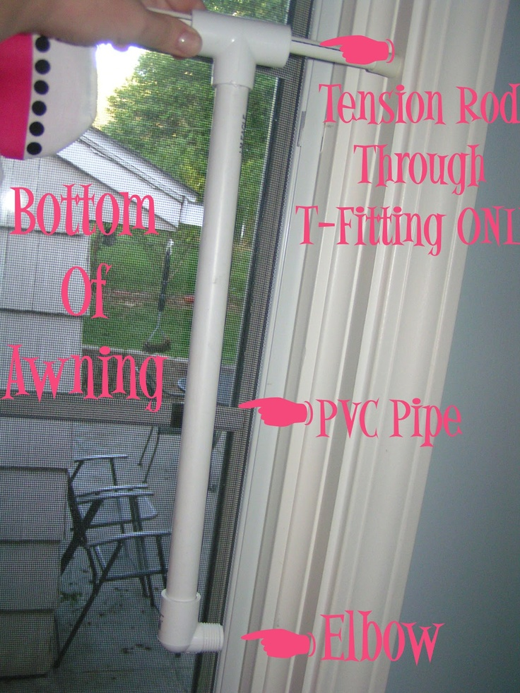 Indoor Awning Tutorial Has Idea For Using Tension Rods