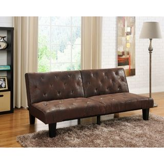 "Venti Futon Sofa Bed | Overstock™ Shopping - Great Deals on Futons   BED: 14.5"" H x 70.5"" W x 43.5"" D"