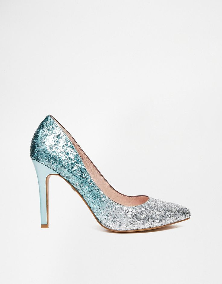 Faith | Faith Finchley Mint Ombre Glitter Heeled Court Shoes at ASOS