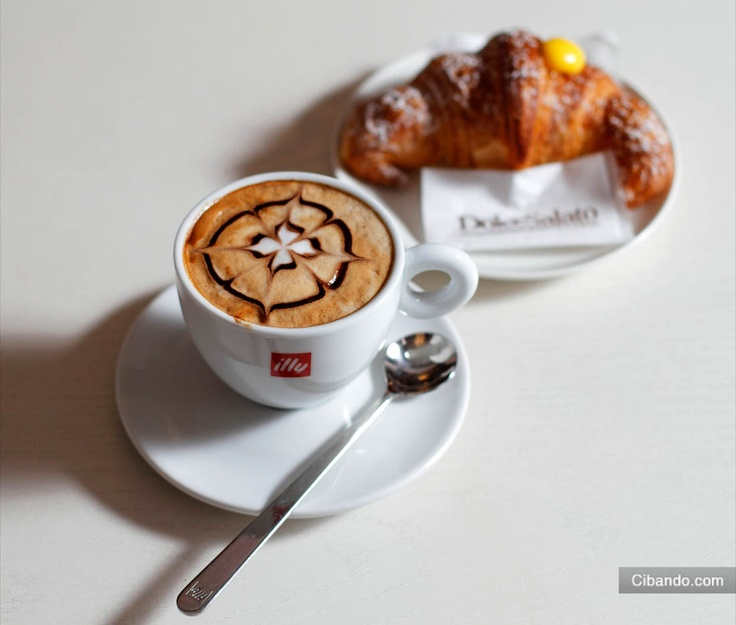 Italian breakfast~ #colazione #breakfast #cornetto #coffee ...