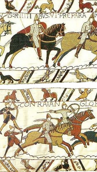 The Bayeux Tapestry - an example of Sequential Art.   http://www.albumworks.com.au/telling-our-stories-1