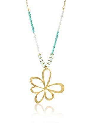 Wendy Mink Flower Pendant Necklace