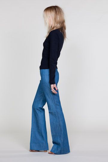 EmersonMade's fall collection: Fall Collection, Wide Leg Jeans, Denim Flare, 70S Outfit, Wide Legs, Trouser Jean, Bellbottom, 70S Fall Fashion