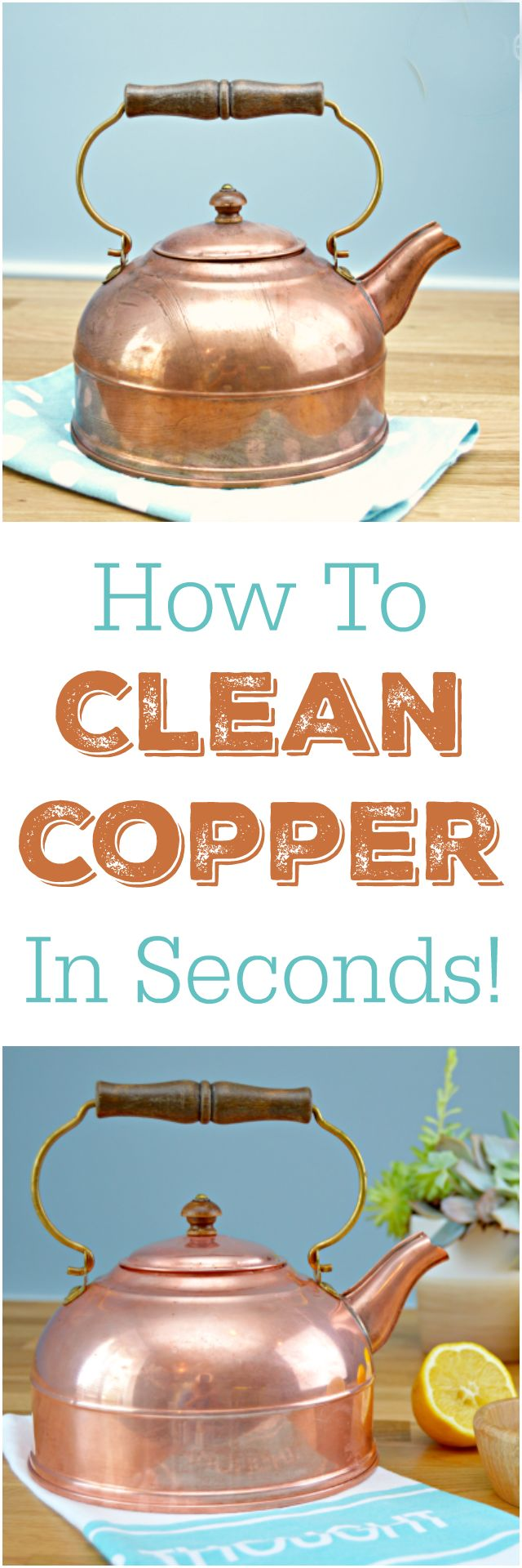 How to clean copper in seconds. The easy way to naturally clean copper pots…