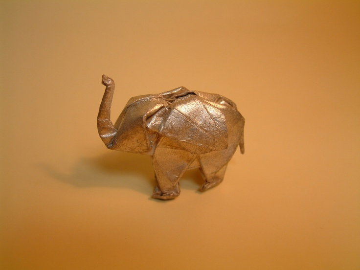 It's Akira Yoshizawa's 101st birthday tomorrow (RIP), and here's a gorgeous origami piece he did.Artists, Happy Birthday, Doodles, Origami Elephant, Google Search, Golden Elephant, Akira Yoshizawa, Origami Art, Amsterdam