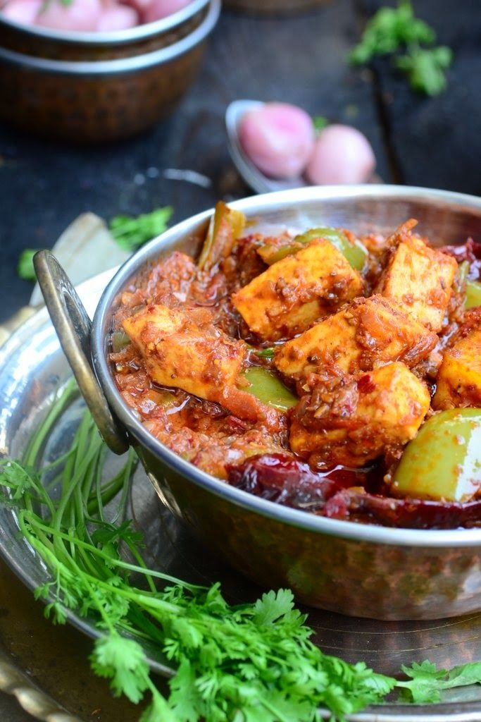 Karahi or kadai paneer is a very famous Indian Cottage cheese recipe and is one of the most common dishes ordered in a restaurant. It is spicy, tasty and delicious.