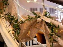 украшение свадебной лестницы