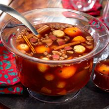 No Mexican holiday party is complete without a hearty pot of hot ¡Ponche Navideño! This warm, spiced Christmas punch is made by simmering typical Mexican fruits with cane sugar and spices until the heavenly aroma permeates the home. Why not give it a try!