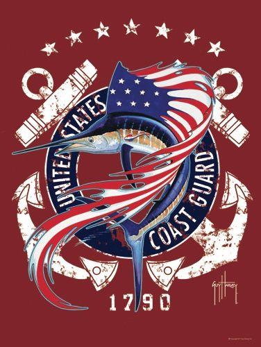 US Coast Guard ~ Awesome art by Guy Harvey #CoastGuard